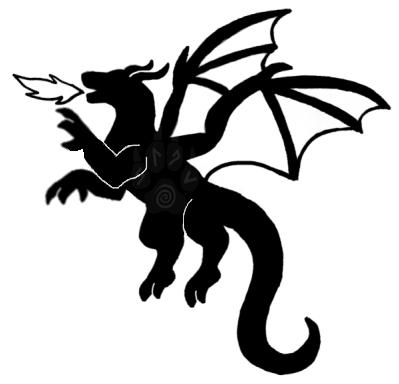 399x384 Dragon Silhouette Tattoo By Pleisarpup