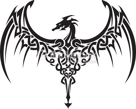 463x372 Image result for dragon silhouette tattoo GRAPHICSCLIP ART