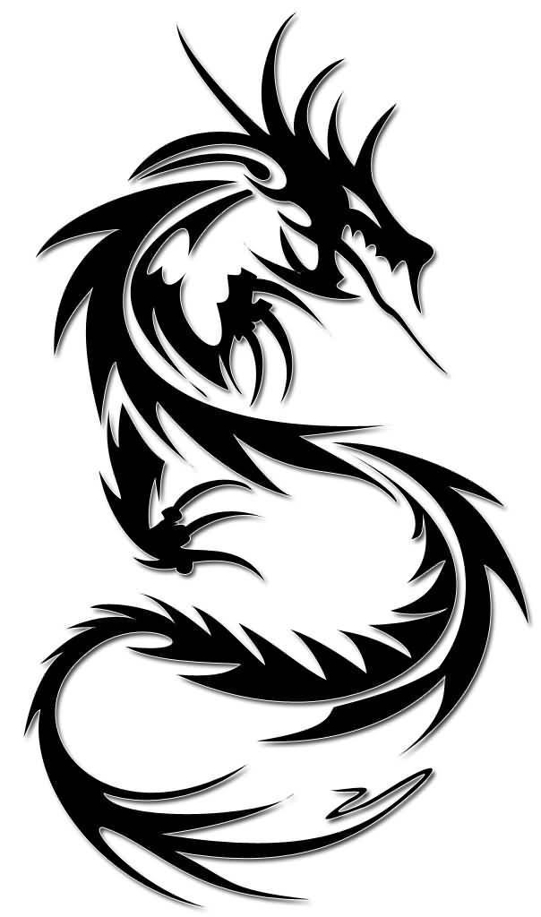 604x1024 32+ Simple Tribal Dragon Tattoos