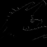 200x200 Wonderful big sitting dragon silhouette tattoo design