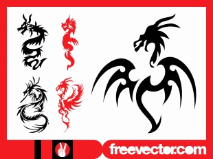 310x231 49 Best Of Photos Silhouette Dragon Tattoos