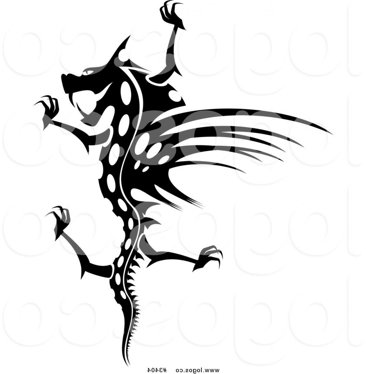 1228x1252 Dragon Silhouette Vector LaztTweet
