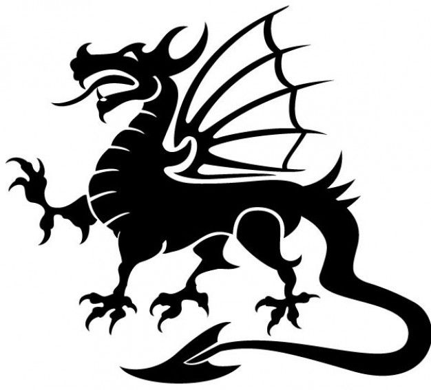 626x567 Dragon Vector Image Design Pinterest Dragons, Silhouettes