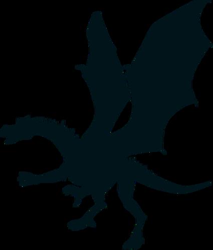 425x500 Green Dragon Silhouette Public Domain Vectors