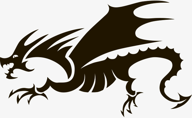 650x400 Silhouette Vector Dragon, Sketch, Vector Silhouettes, Vector PNG