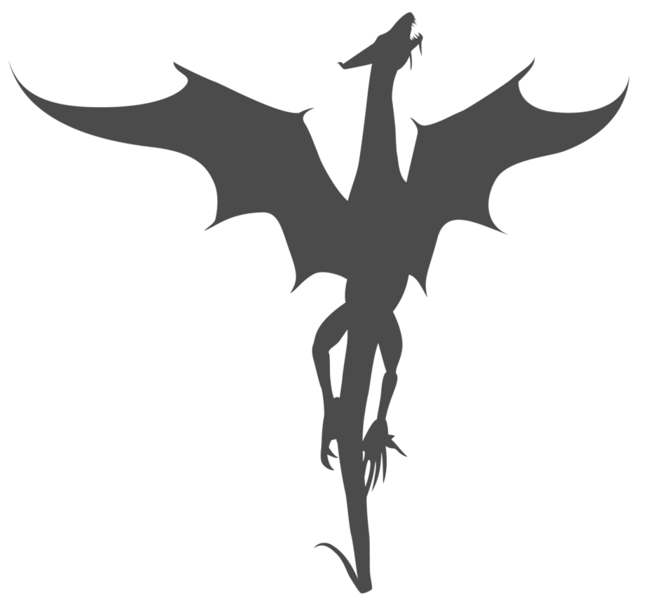 922x867 Vector Dragon Silhouette by Watyrfall on DeviantArt