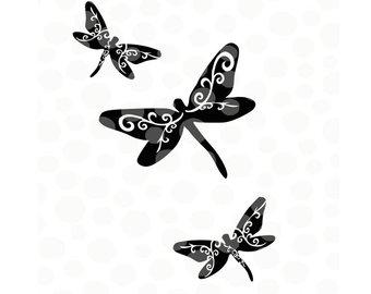 340x270 Dragonfly Cut File Etsy