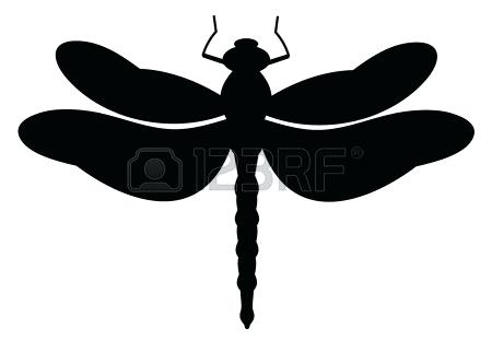 450x311 Dragonfly Silhouette Illustrati Dragonfly Silhouette Clip Art Free