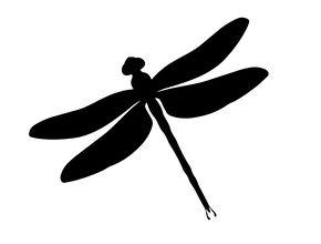 290x220 Dragonfly Silhouette Vector Garden Dragonflies