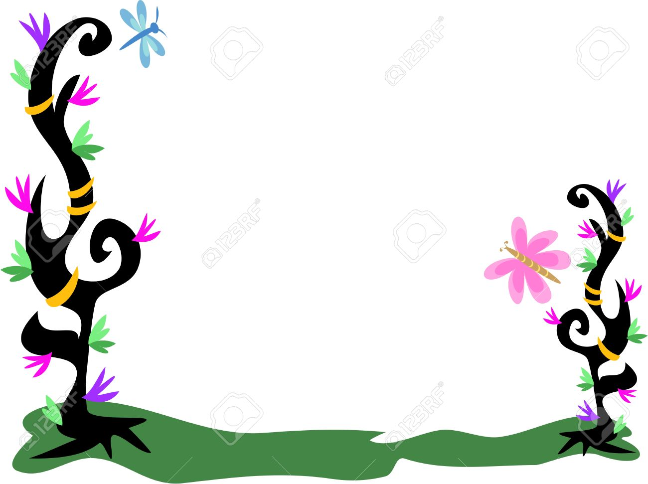1300x971 Dragonfly Clipart Frame