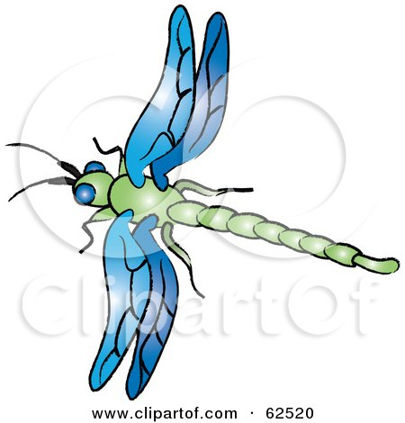 450x470 Royalty Free (Rf) Clipart Illustration Of A Flying Black Dragonfly