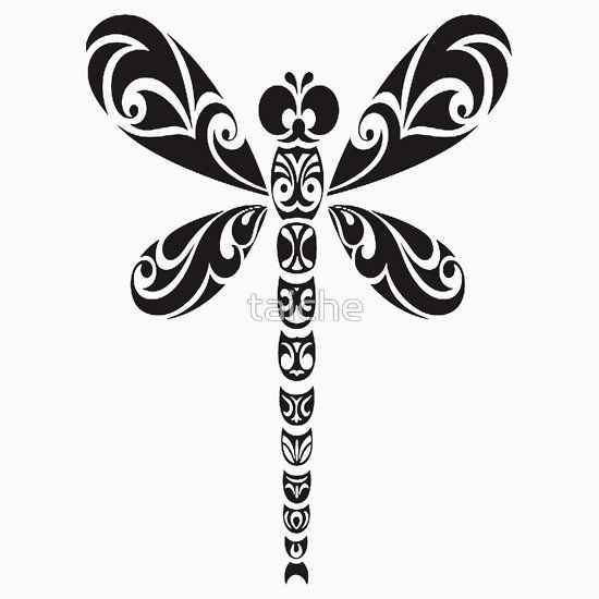550x550 Tribal Dragonfly Tattoo Silhouette Cameo