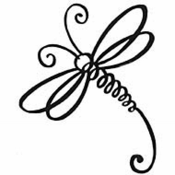 600x600 Dragonfly Clipart Simple
