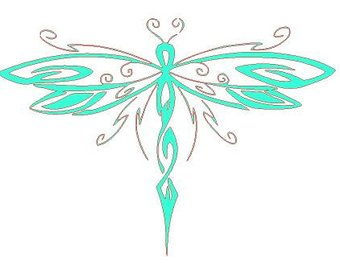 340x270 Dragonfly Silhouette Etsy