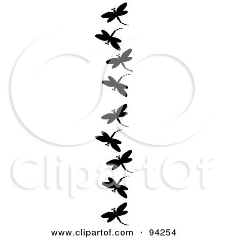 450x470 Black And White Dragonfly Silhouette Clipart Free