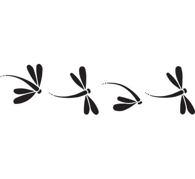 Dragonfly Silhouette Tattoo