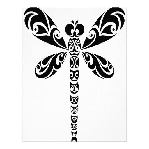 512x512 Tribal Dragonfly Tattoo Letterhead Dragonflies, Tattoo And Body Art