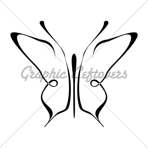 500x500 Simple Butterfly Tattoo Butterfly Tattoos Simple