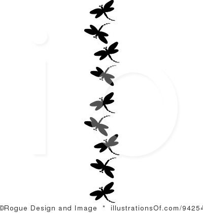 400x420 Dragonfly Clip Art Black And Whitedragonfly Clipart By Pams