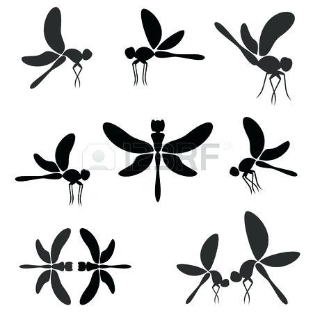 450x450 Dragonfly Silhouette Dragonfly Silhouette Tattoo