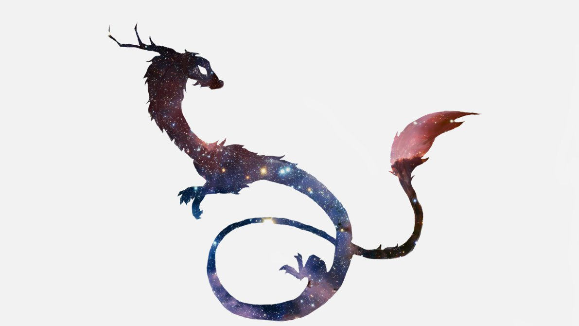 1191x670 Galaxy Dragon Silhouette By Cloudy Dragons