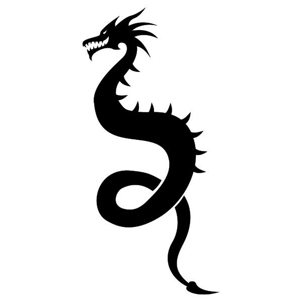 600x600 Dragon Silhouette