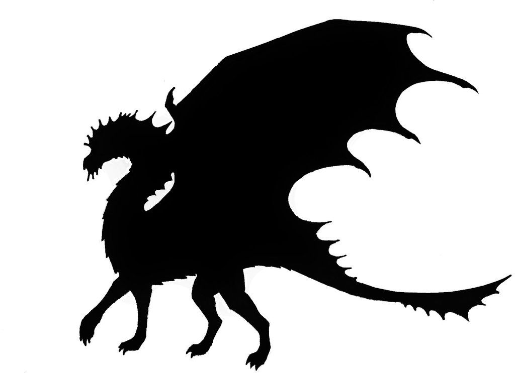 1024x743 Dragon Silhouette 2 By Astralguardian70775 On Clipart Library