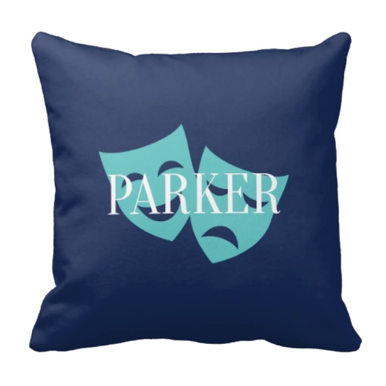 759x759 Personalized Theatre Mask Throw Pillow For Boys Amp Girls Shop