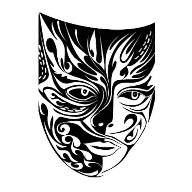 Drama Masks Silhouette