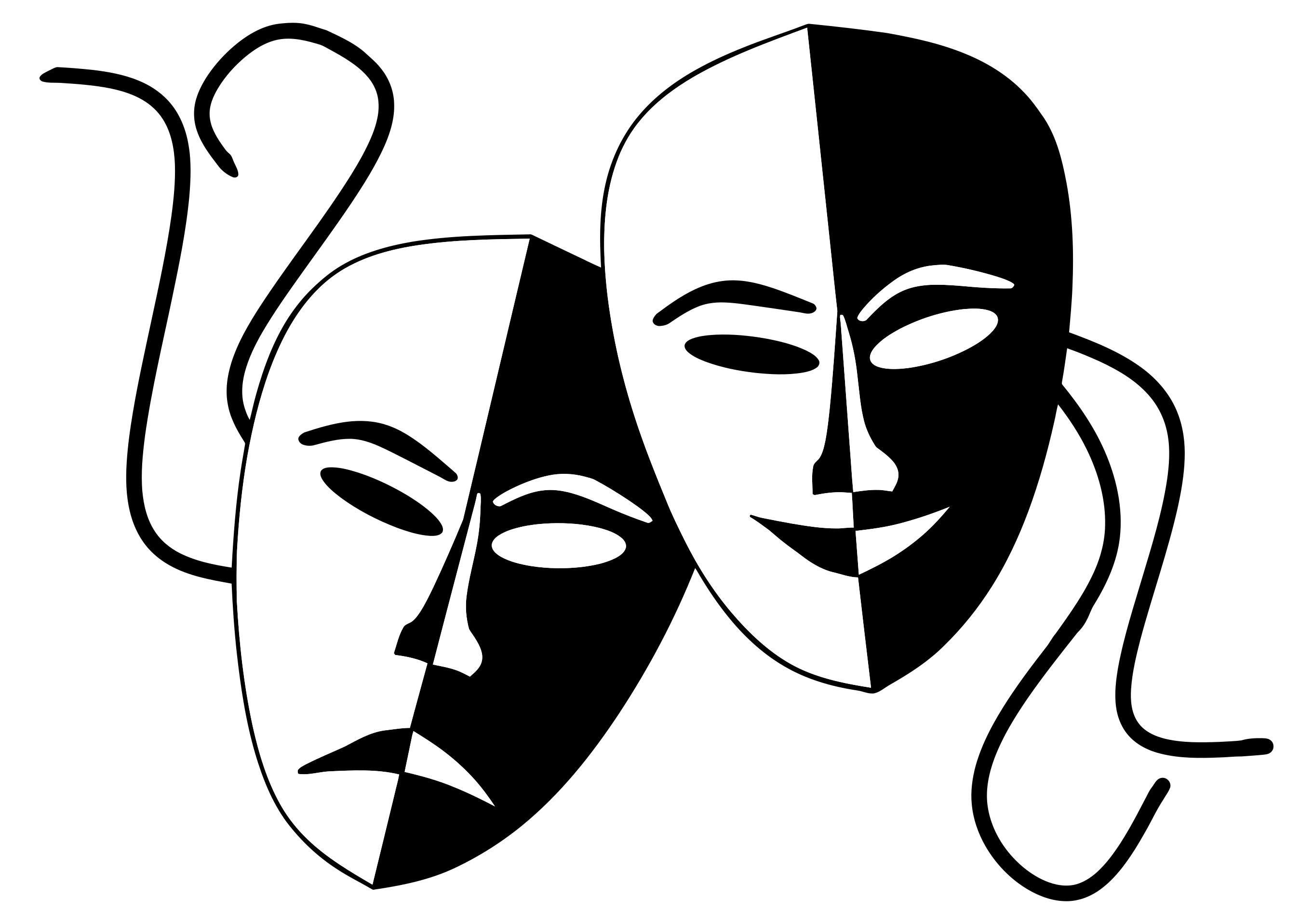 drama masks silhouette at getdrawings com free for personal use rh getdrawings com