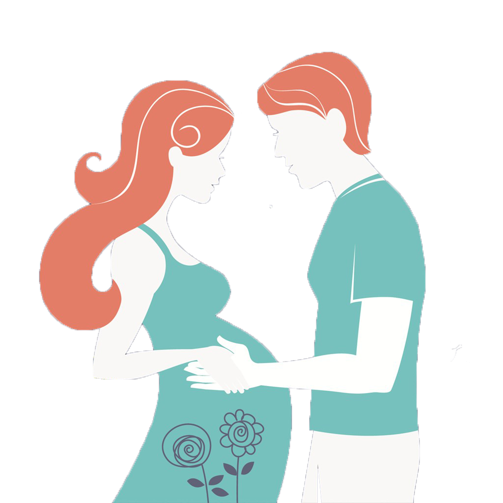 1024x1024 Pregnancy Mother Infant Drawing