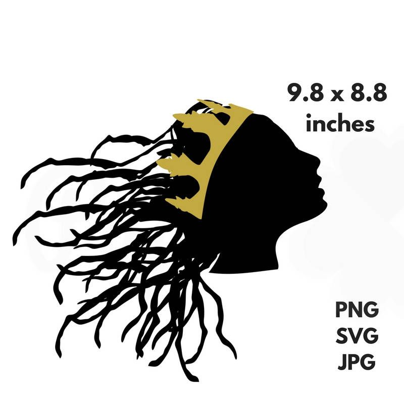 800x800 Locs Crown Svg Dreadlocks Queen Clip Art Royalty Png Princess Cut