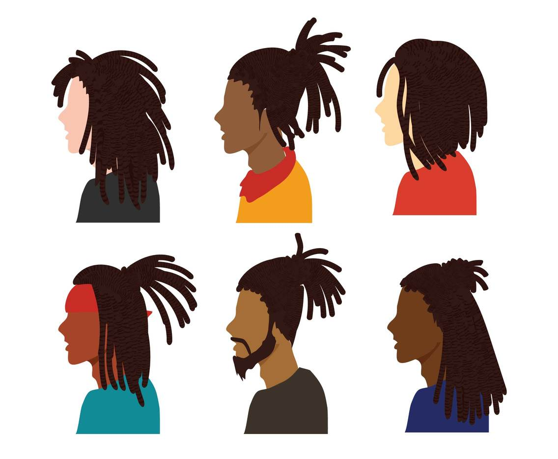 1136x936 Dreadlocks Vector Set Vector Art Amp Graphics