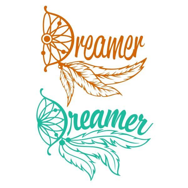 600x600 Dreamer Dreamcatcher Cuttable Design Cut File. Vector, Clipart