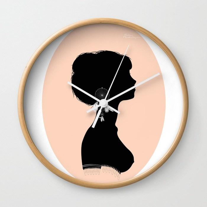 700x700 Dream Catcher Girl Silhouette Wall Clock By Knekko Society6