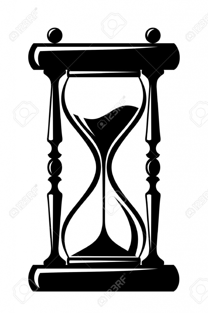 682x1024 Hourglass Vector Black Silhouette Royalty Free Cliparts Vectors