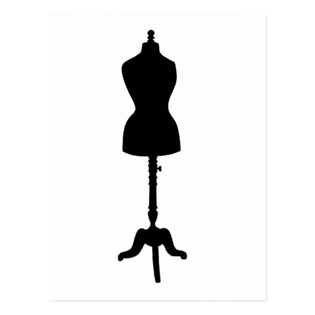 630x630 Dress Form Silhouette Ii Postcard