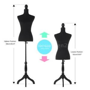 300x300 Female Mannequin Torso Dress Form With Wood Tripod Stand 34 26