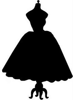 235x320 Vintage Dress Form Silhouette Svg