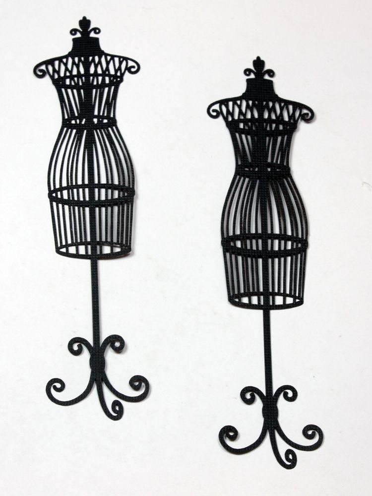 750x1000 Dressform silhouette Want2scrap Dress Form Silhouette