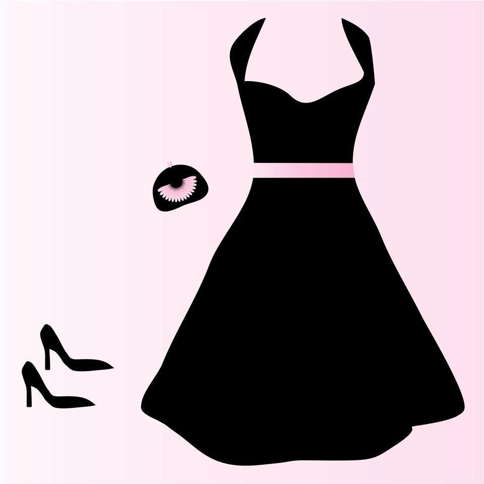 960x960 Evening Dress Clipart