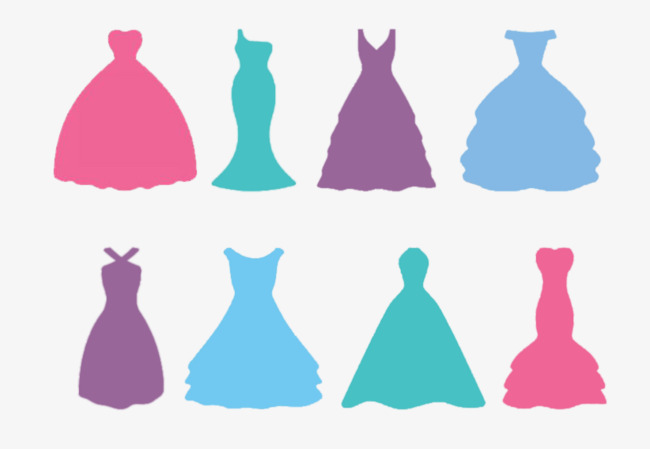 650x449 Wedding Dress Silhouette, Pink, Green, Purple Png And Psd File