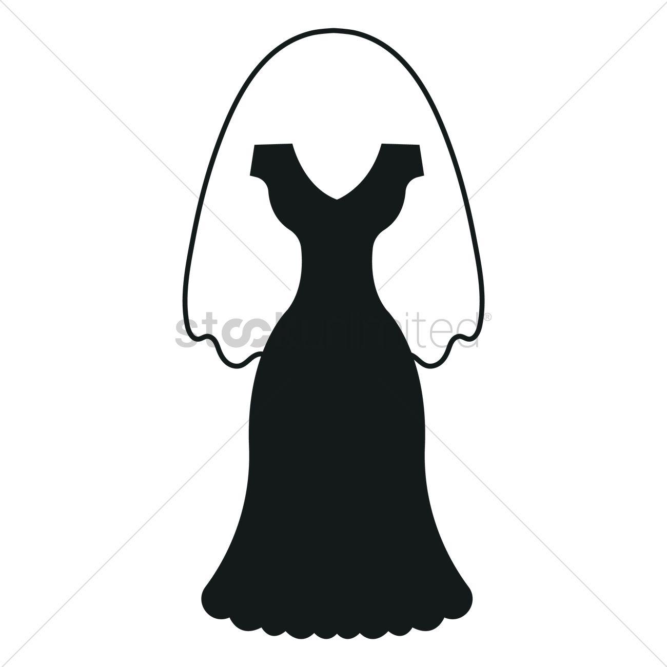 1300x1300 Wedding Dress Silhouette Vector Image