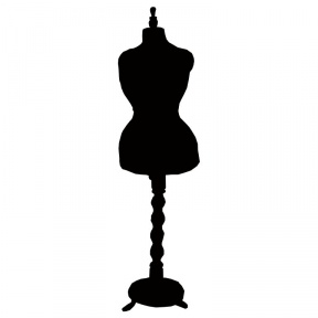 288x288 Dress Stand Clipart Silhouette