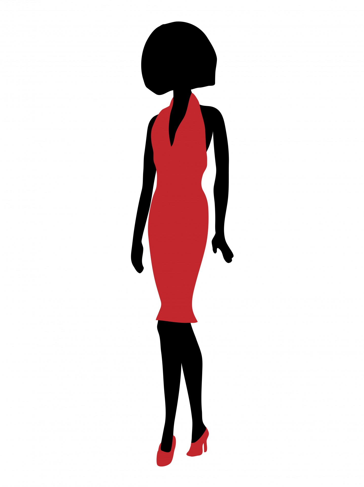 1435x1919 Woman In Red Dress Free Stock Photo