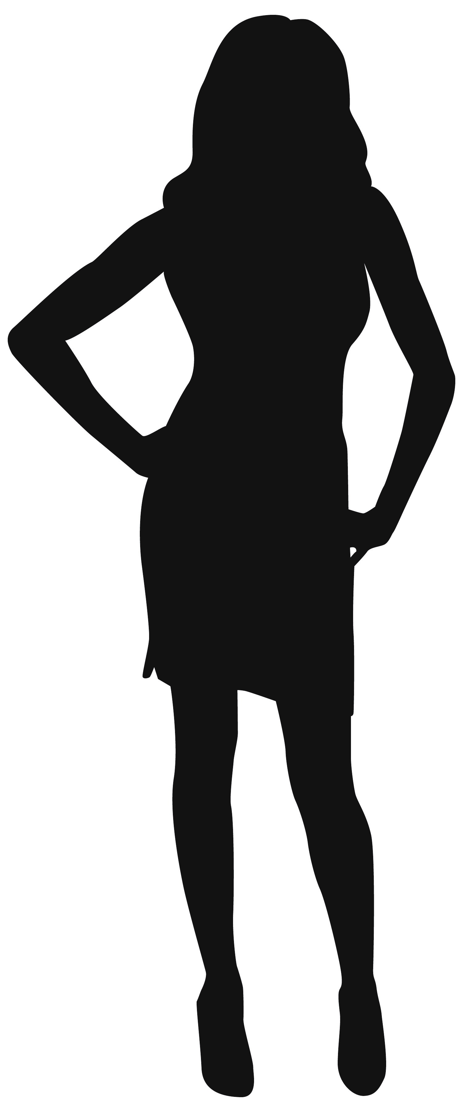 1500x3600 Woman In Long Dress Standing Clipart