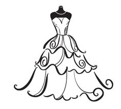 dress silhouette clip art at getdrawings com free for personal use rh getdrawings com wedding dress clipart vector wedding dress clipart images