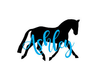340x270 Dressage Silhouette Etsy