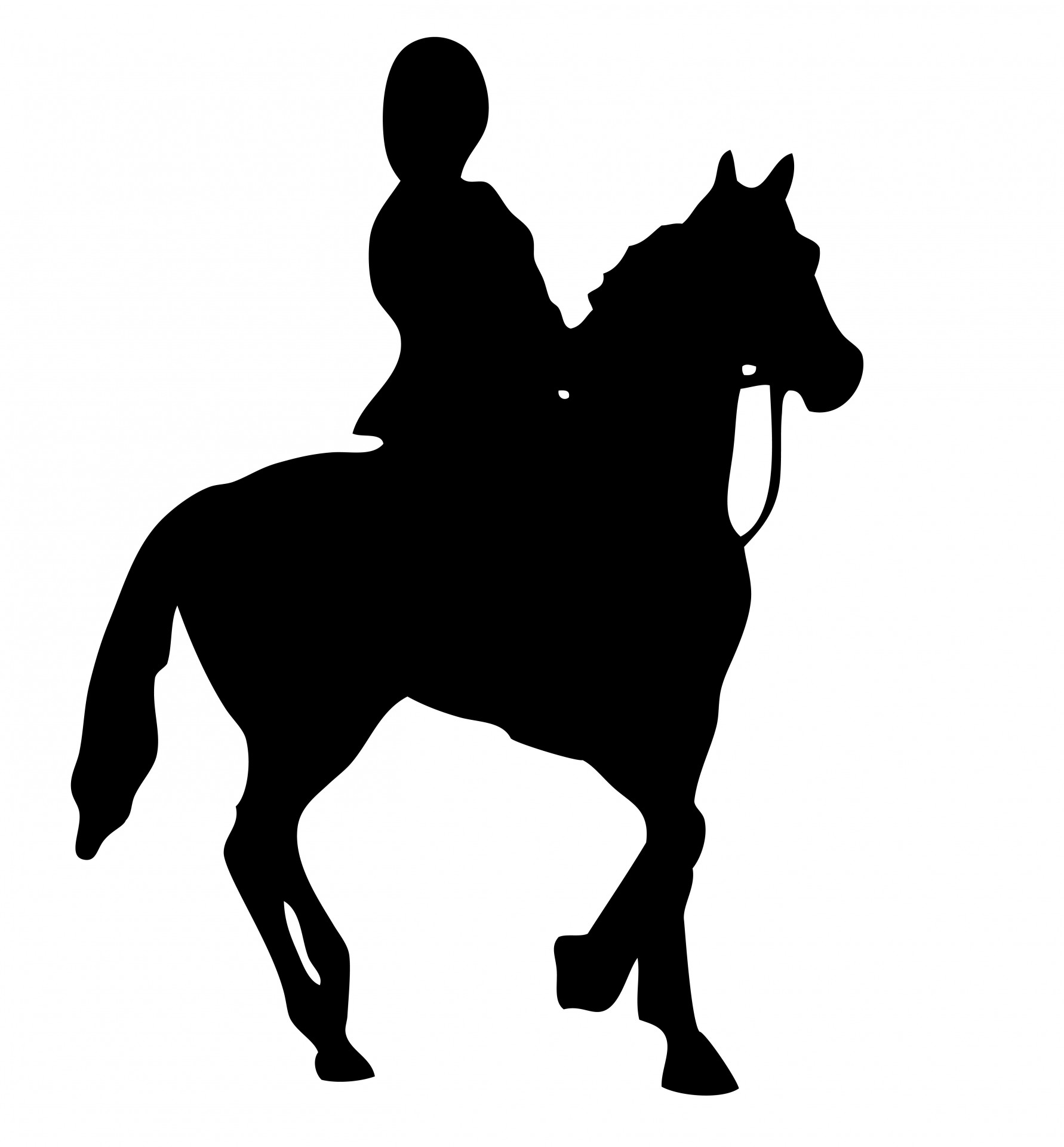 1782x1920 Horse Rider Silhouette Clipart Free Stock Photo