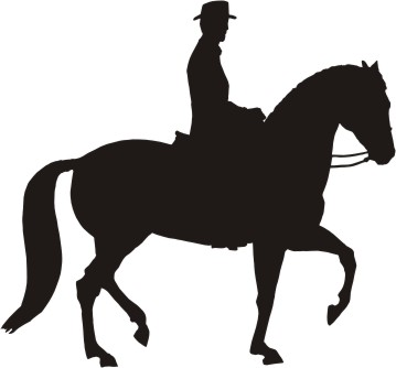 359x334 Horse Silhouette Decal 6 X 5.5